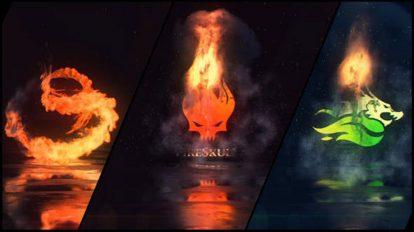 پروژه افترافکت نمایش لوگو با انفجار آتش Fire Explosion Logo