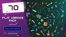 پروژه پریمیر مجموعه انیمیشن فلت فلش Flat Arrows Pack