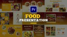 پروژه پریمیر اسلایدشو پرزنتیشن غذا Food Presentation for Premiere Pro