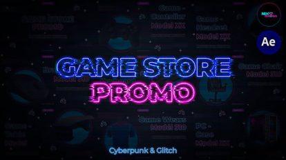 پروژه افترافکت تیزر تبلیغاتی فروشگاه گیم Game Store Promo