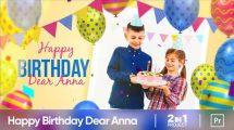 پروژه پریمیر تولد کودک دختر Happy Birthday Anna