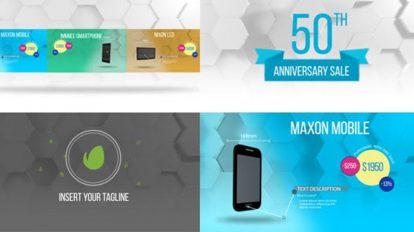 پروژه افترافکت تیزر تبلیغاتی محصولات Product Promo Colorful