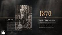 پروژه افترافکت نمایش خاطرات تاریخی History Memories Pack