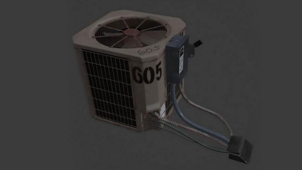 مدل سه بعدی سیستم تهویه صنعتی Industrial Air Conditioner