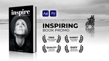 پروژه افترافکت تیزر تبلیغاتی کتاب Inspiring Book Promo