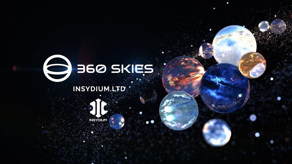 مجموعه تصاویر آسمان برای طراحی سه بعدی Insydium v360 Skies
