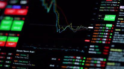 فوتیج زمینه متحرک نمایش لایو نمودار سهام