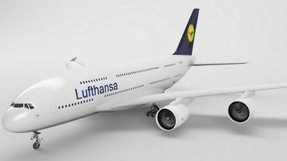 مدل سه بعدی هواپیما لوفتهانزا Lufthansa A380