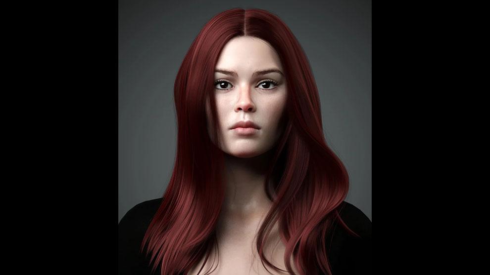 پریست مو برای کاراکتر زن Lynna Hair for Genesis 8 Female