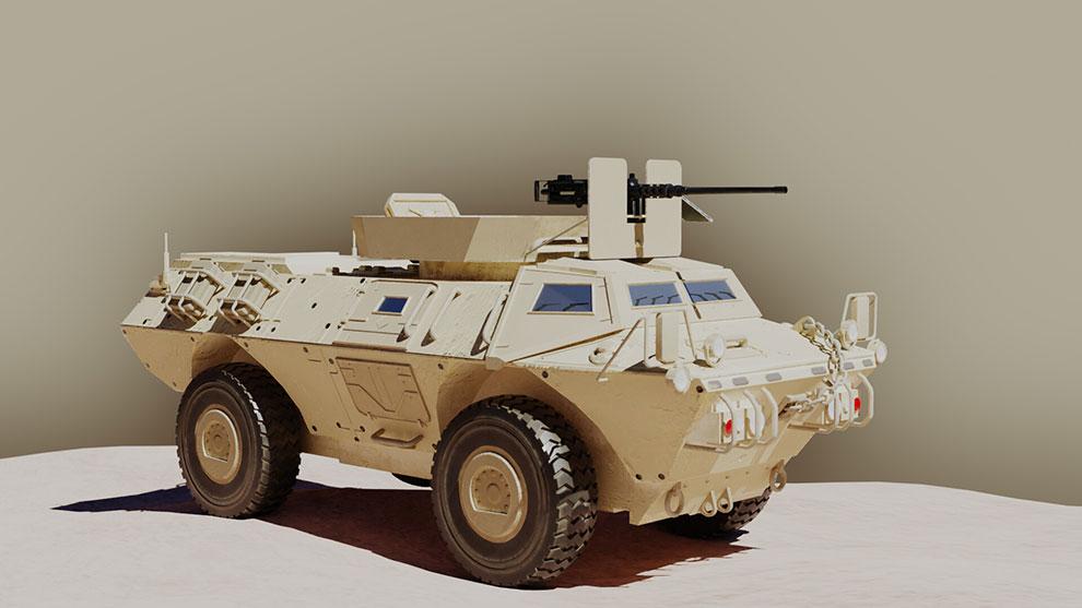 مدل سه بعدی خودرو نظامی Armored Security Vehicle
