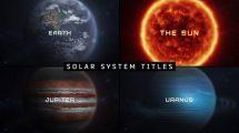 پروژه افترافکت نمایش عناوین با سیارات Macro Planets Titles