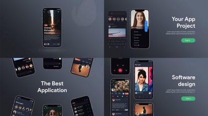 پروژه افترافکت تیزر تبلیغاتی اپلیکیشن Mobile App Promotion
