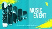 پروژه افترافکت افتتاحیه برنامه اجرای موسیقی Music Event