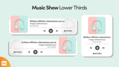 پروژه افترافکت ویژوالایزر موزیک Music Show Lower Thirds