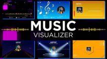 پروژه افترافکت مجموعه ویژوالایزر موزیک Music Visualizer Pack