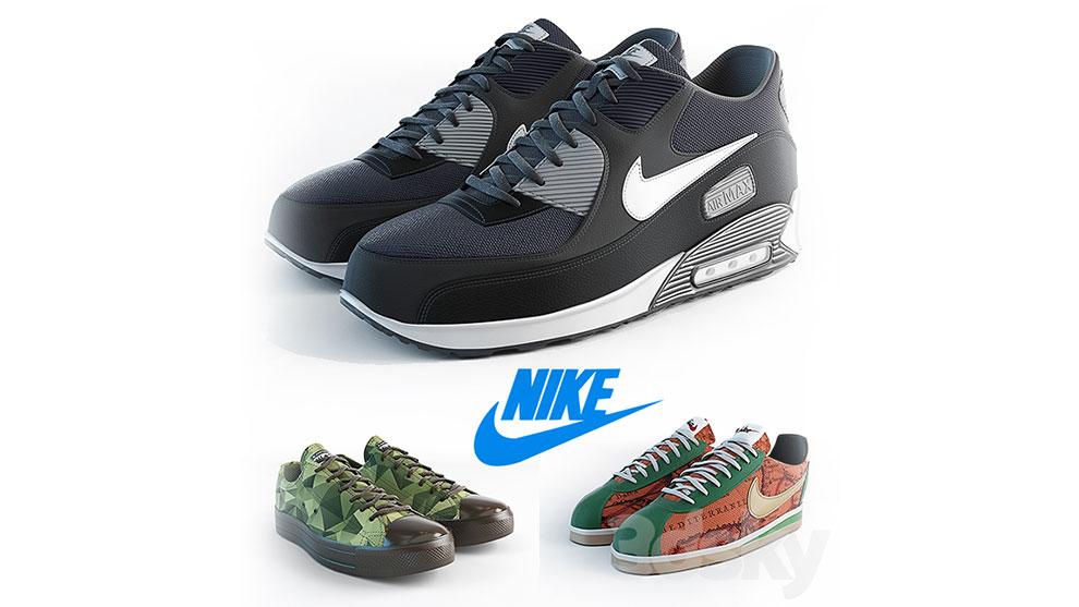 مجموعه مدل سه بعدی کفش نایکی Nike 50 Shades of Different
