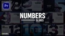 پروژه پریمیر اسلایدشو با اعداد Numbers Slideshow for Premiere Pro