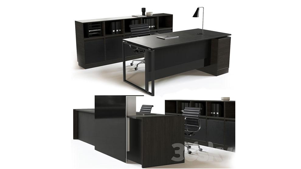 مدل سه بعدی میز و صندلی پذیرش شرکت Office Reception Furniture Set
