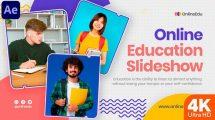 پروژه افترافکت اسلایدشو آموزشی Online Education Slideshow