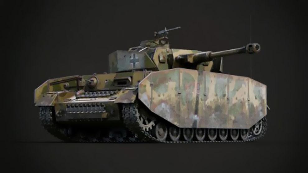 مدل سه بعدی تانک Panzerkampfwagen IV