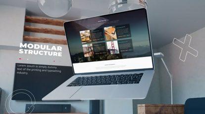 پروژه افترافکت تیزر تبلیغاتی وبسایت Premium Laptop Website Promo