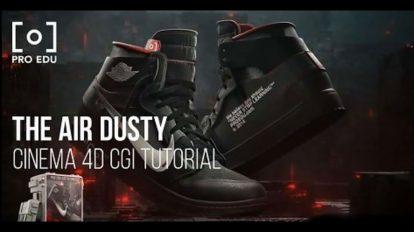 آموزش ساخت تیزر تبلیغاتی برای کفش با سینمافوردی Air Dusty Shoe Commercial