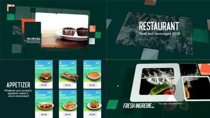 پروژه افترافکت نمایش منو غذا رستوران Restaurant Food Beverages Menu