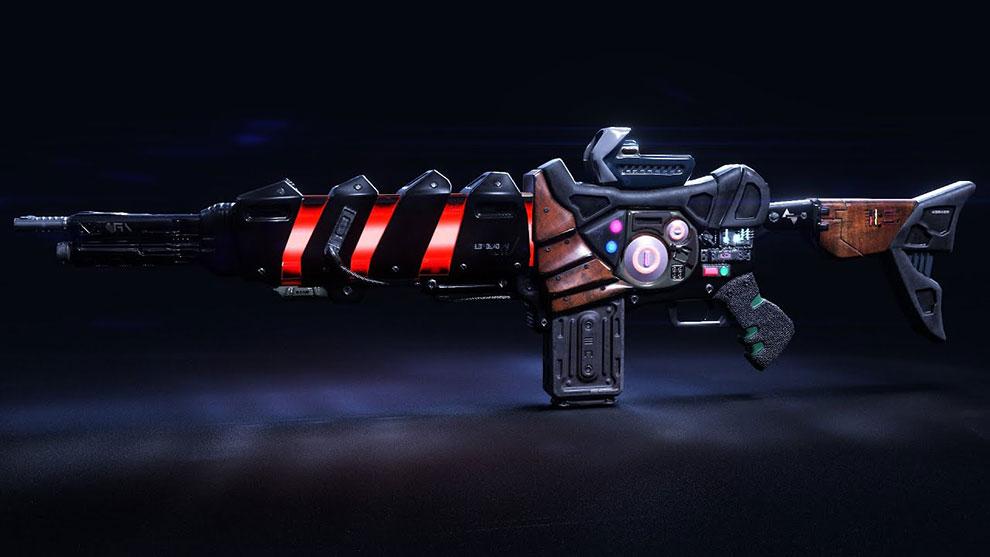 مدل سه بعدی اسلحه پیشرفته Sci Fi Gun Encre