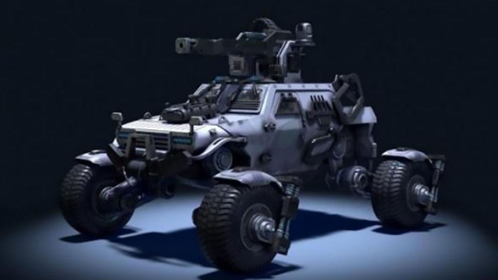 مدل سه بعدی خودرو نظامی علمی تخیلی Sci-Fi Military Buggy