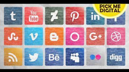 پروژه افترافکت مجموعه آیکون شبکه اجتماعی Social Media Icons Pack