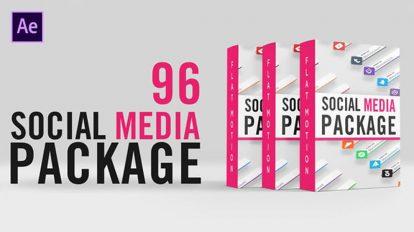 پروژه افترافکت مجموعه زیرنویس شبکه اجتماعی Social Media Lower Thirds