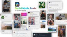 پروژه داوینچی مجموعه پست شبکه اجتماعی Social Media Posts for Davinci Resolve