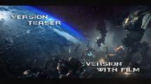پروژه افترافکت نمایش عناوین سینمایی Space Trailer Titles