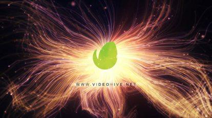 پروژه افترافکت نمایش لوگو با رشته های نور Curls Logo Intro