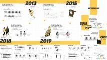 پروژه افترافکت اینفوگرافیک با تایم لاین The Timeline Style Infographics
