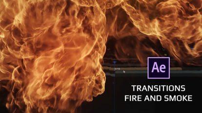 پروژه افترافکت مجموعه ترانزیشن دود و آتش Transitions Fire and Smoke