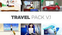 پروژه افترافکت مجموعه موشن سفر و گردشگری Travel Pack V1