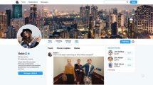 پروژه افترافکت تیزر تبلیغاتی پروفایل توییتر Twitter Profile Promo