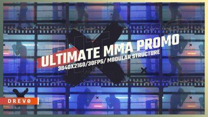 پروژه افترافکت اینترو ورزشهای رزمی Ultimate MMA Promo Intro