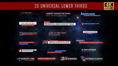 پروژه افترافکت مجموعه زیرنویس Universal Lower Thirds