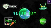 پروژه افترافکت نمایش عناوین برای روز جهانی وگان World Vegan Day Titles