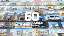 پروژه افترافکت مجموعه زمینه متحرک Backgrounds Animation Scene
