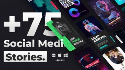 پروژه افترافکت استوری شبکه اجتماعی Social Media Stories