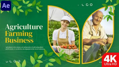 پروژه افترافکت اسلایدشو کشاورزی Agriculture Farming Business Slideshow