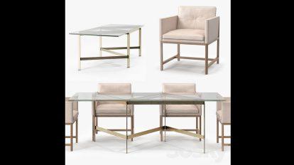 مدل سه بعدی میز و صندلی Dining Table Chair
