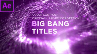 پروژه افترافکت نمایش عناوین بیگ بنگ Big Bang Titles