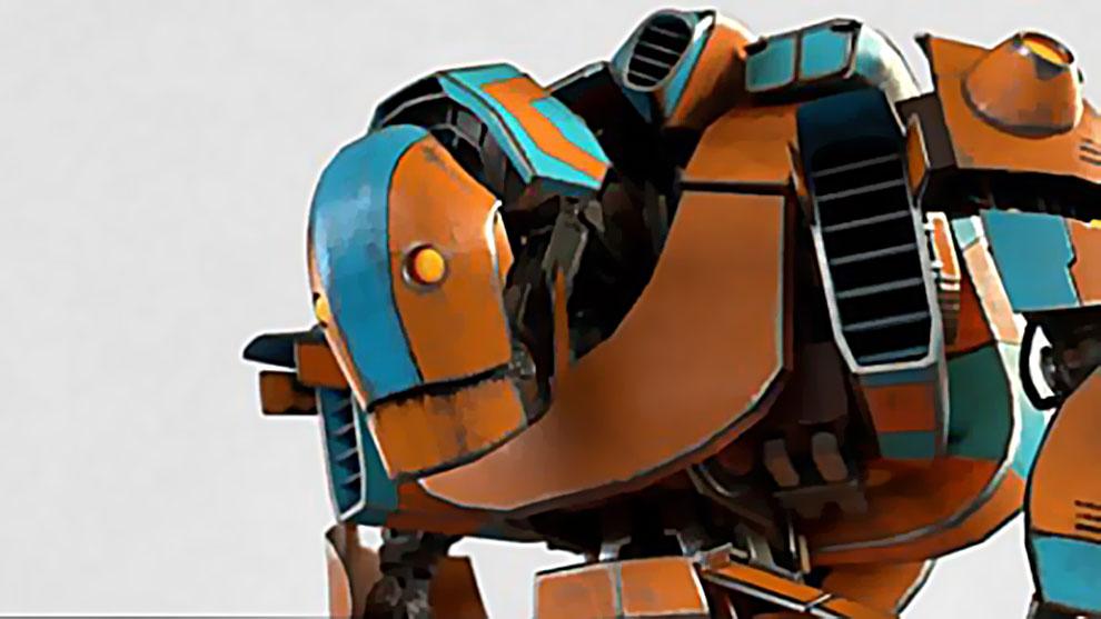 مدل سه بعدی ربات کارتونی Cartoon Mech