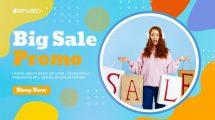 پروژه افترافکت تیزر تبلیغاتی فروش ویژه Colorful Sale Promo