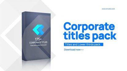 پروژه افترافکت نمایش عناوین و زیرنویس شرکتی Corporate Titles Pack