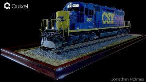 مدل سه بعدی لوکوموتیو دیزلی Electro Motive Diesel Locomotive